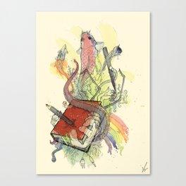 Sketchbook Life Canvas Print
