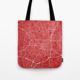 Greensboro Map, USA - Red Tote Bag
