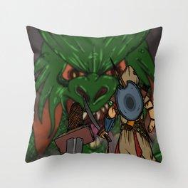 Ancelin vs Drecus Throw Pillow