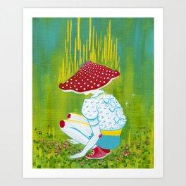 Amanita Mushroom Fairy Ring Art Print