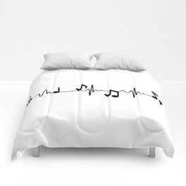 MUSICAL HEART BEAT Comforters