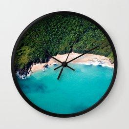 Turquoise Beach Wall Clock