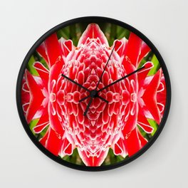FloralBisection Wall Clock