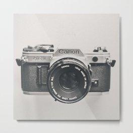 Vintage Camera Phone Metal Print