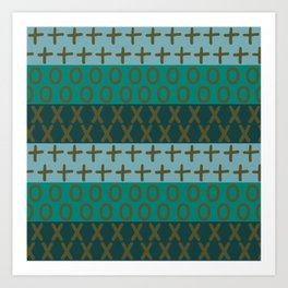 Abstract green pattern Art Print