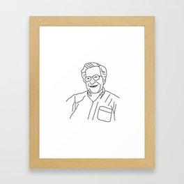 Noam Chomsky Framed Art Print