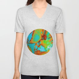 Orange to Blue Medley Unisex V-Neck