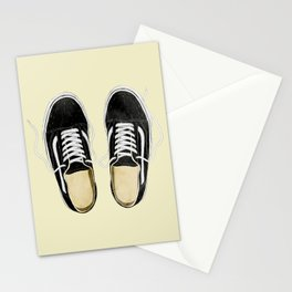 boy's sneakers stayhome Stationery Cards