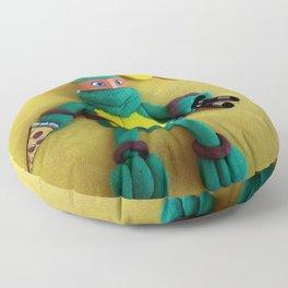 Orange mask turtle Floor Pillow