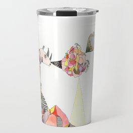 Rhinos Smell Roses Too Travel Mug