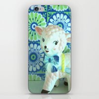 lamb iPhone & iPod Skins featuring  Lamb by Vintage  Cuteness