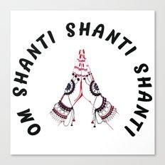 Shanti Vibes Canvas Print