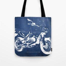 2010 Moto Guzzi Stelvio 1200 4V blueprint Tote Bag