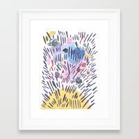 physics Framed Art Prints featuring Quantum physics by Dreamy Me