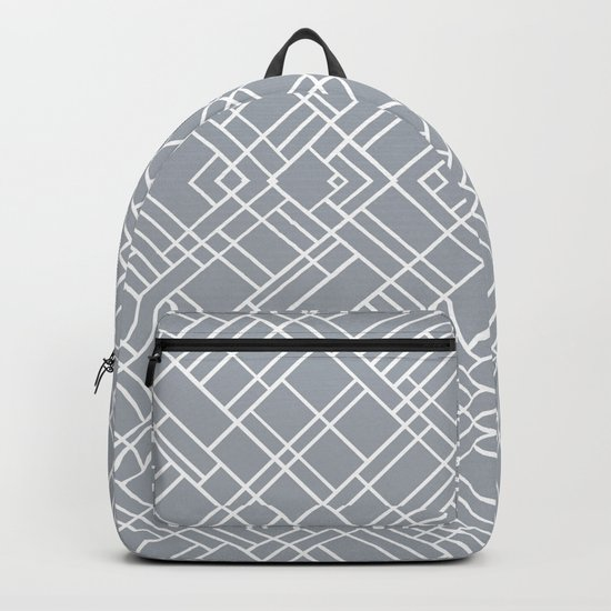 Map Outline 45 Grey Repeat Backpack