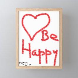 Be happy! Framed Mini Art Print