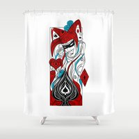 joker Shower Curtains featuring JOKER by taniavisual