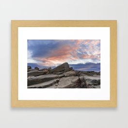 Granite Sunset Framed Art Print