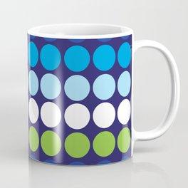 Shades of Blue Circles Coffee Mug