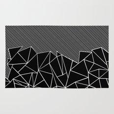Ab Lines 45 Black Rug