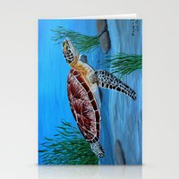 sea turtle Stationery Cards featuring Sea turtle  by maggs326
