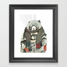 Woolly Bear Framed Art Print