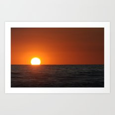Smooth Sea Sunset Art Print