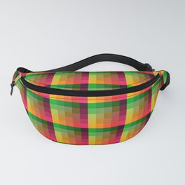 Indian Summer Multicolored Pixelated Tile Pattern Fanny Pack