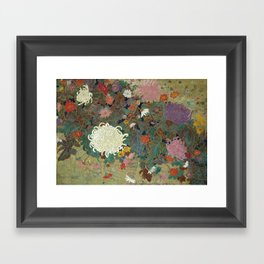 flower【Japanese painting】 Framed Art Print
