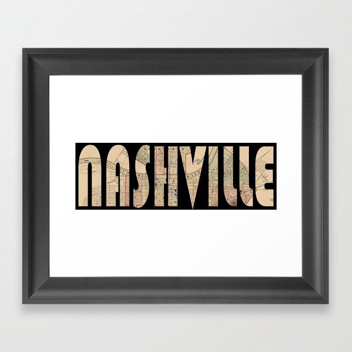 Nashville 1877 Framed Art Print By Lydiadavid