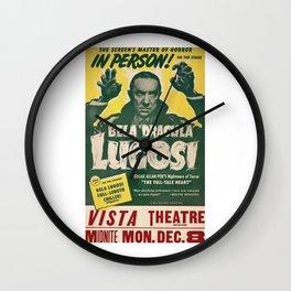 Dracula, Bela Lugosi, vintage poster Wall Clock