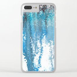 Watercolor trickle effect Clear iPhone Case