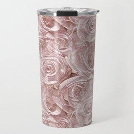 Decoration pattern of pink Roses Travel Mug
