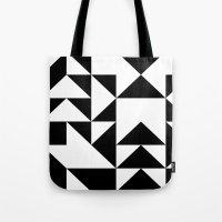 yin yang Tote Bags featuring Yin Yang by Jar Lean