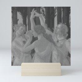Black White Primavera Mini Art Print