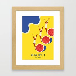 "EX-JU poster ""AEROPUT"" Framed Art Print"