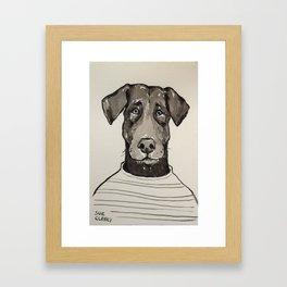 Larry the Labrador Framed Art Print