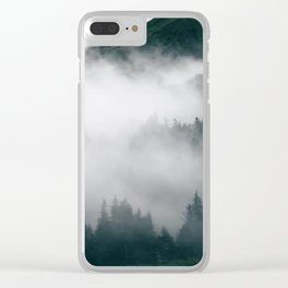 Forest Fog XVIII Clear iPhone Case