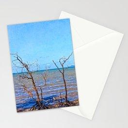 Skeletal mangrove trees Stationery Cards
