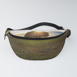 Sunset in the field Fanny Pack