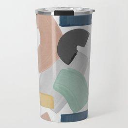 Pastel Paint Blocks, Pastel Wall Art Travel Mug