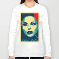 evil queen Long Sleeve T-shirts featuring Evil Queen by Pop Atelier