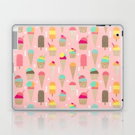 Ice Cream summer fresh food vacation heatwave city life pattern print geometric triangle design Laptop & iPad Skin