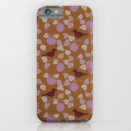 Purple Crow & Lavender Pumpkins iPhone Case