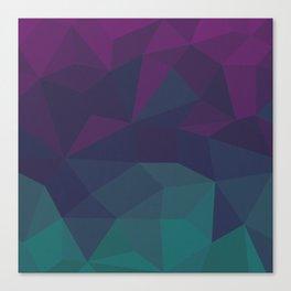 Abstract Geometric Gradient Pattern between dark Magenta and dark Cyan Canvas Print