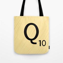 Scrabble Q - Large Scrabble Tile Letter Tote Bag