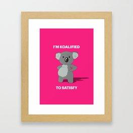 Koalified Framed Art Print