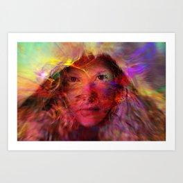 Alxia eyes Art Print