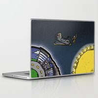 outer space Laptop & iPad Skins featuring Outer Space by Thomas Gomes