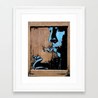 smoke Framed Art Prints featuring SMOKE by ARTito